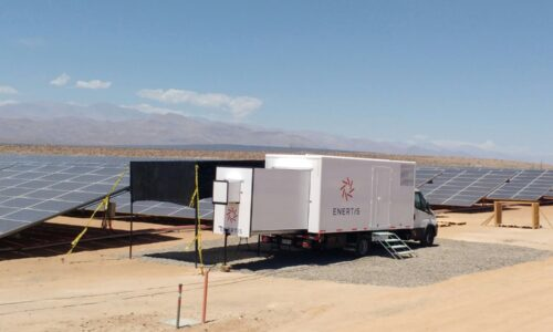 Enertis PV Mobile Lab inspects modules at El  Romero Solar in Chile